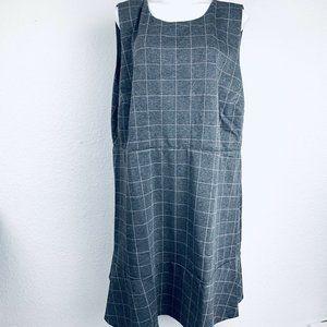 LOFT Plus Gray Pink Flare Knit Women Dress. Size